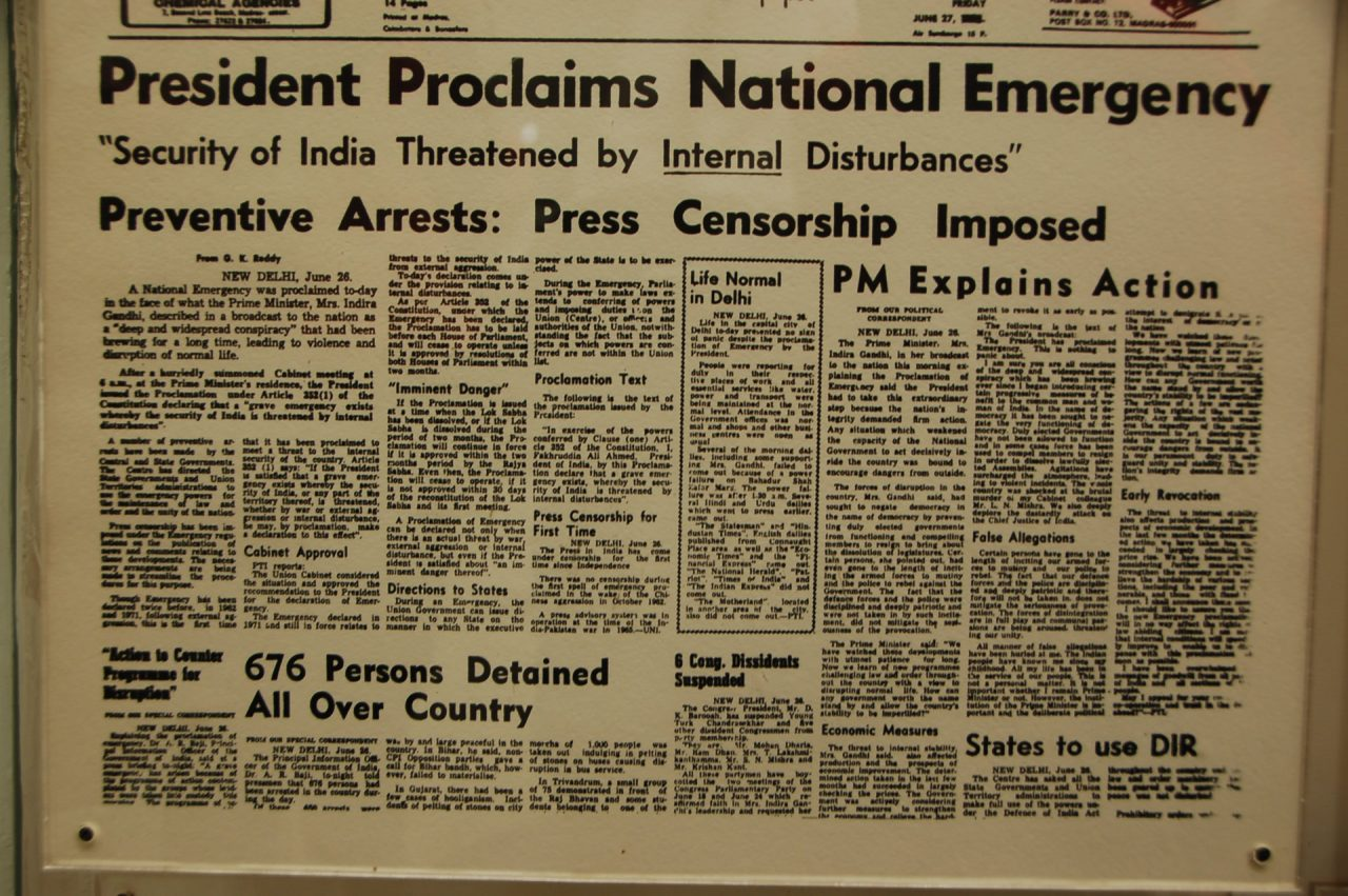 President of India proclaims national emergency
